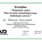 urszula kuczynska certyfikat dentysta 14_2