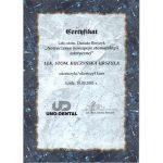 urszula kuczynska certyfikat dentysta 28_2