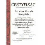 urszula kuczynska certyfikat dentysta 70_2
