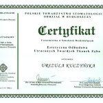 urszula kuczynska certyfikat dentysta 73_2
