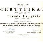 urszula kuczynska certyfikat dentysta82_2