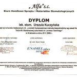 urszula kuczynska certyfikat dentysta 85_2