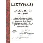 urszula kuczynska certyfikat dentysta 90_2