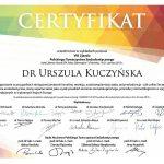 urszula kuczynska dentysta Certyfikat 19