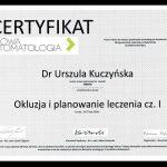 urszula kuczynska dentysta Certyfikat 20