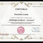 urszula kuczynska dentysta Certyfikat 22