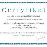 urszula kuczynska dentysta Certyfikat 6