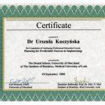 Certyfikat U-K Implantologia