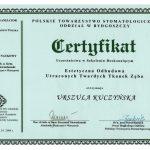 Certyfikat U-K Odbudowa Tkanek zeba
