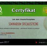 Certyfikat U-K Zasady okluzji