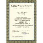 certyfikat dentysta anicert 2