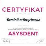 certyfikat dentysta drzycert 1