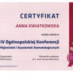 certyfikat dentysta kwiatrep 3