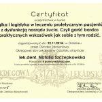 certyfikat dentysta nacert 17
