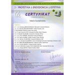 certyfikat dentysta nacert 18
