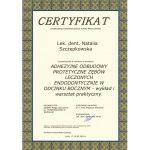 certyfikat dentysta nacert 2