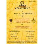 certyfikat dentysta nacert 20