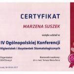 certyfikat dentysta suszcert 3