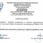 certyfikat dentysta suszcert 7