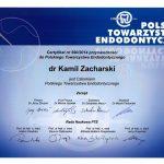 vzacharski certyfikat dentysta zachcert 20