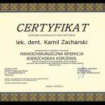zacharski certyfikat dentysta zachcert 9