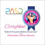 certyfikat PASD dentysta dzieci